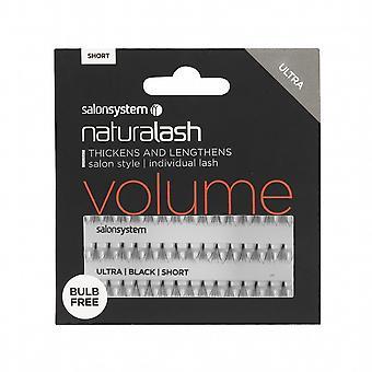 Salon System  Naturalash - Volume - Black Short - Reusable Eyelashes - Bulb Free