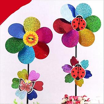 Colorful Rainbow, Dazy Flower Design Wind Spinner (54x22cm)