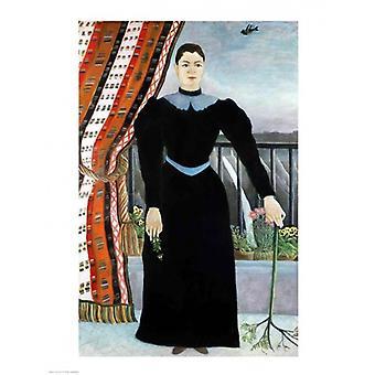 Portrait of a Woman 1895 Poster Print by Henri Rousseau