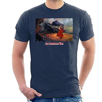 Amerikkalainen tail fieval ja Warren T Rat Men's T-paita