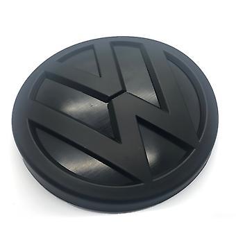 Matt Black VW Volkswagen Front Grill Bonnet Hood Badge tunnus 130mm Passat Touareg Touran Golf Plus