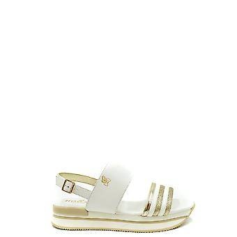 Hogan Ezbc030220 Women's White Leather Sandals