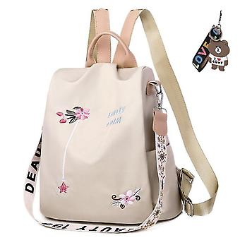 Mode Anti Theft Vrouwen Rugzak, Duurzame Stof, Oxford School Bag, Pretty