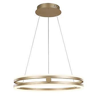 Italux Lonia - moderne LED hängen Anhänger golden, warm weiß 3000K 3150lm dimmbar