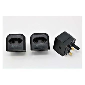 欧洲变压器到英国转换器 2 针欧洲电源到英国插头 - 3 包