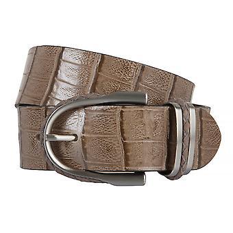 OTTO KERN belts men's belts leather belt Brown/nut 2247