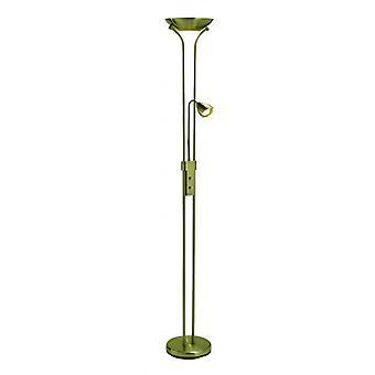Detroit Floor Lamp Brown 2 Bollen