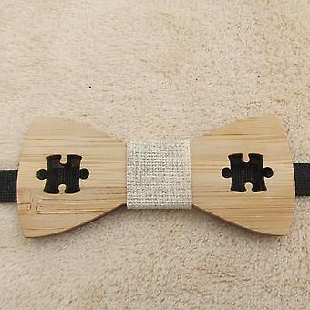 Klassinen bambu puu rusetti solmiot laserleikattu puinen lasten perhonen solmut cravat