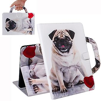 Pug Pattern Horizontal Flip Leather Case for Huawei MediaPad M5 Lite 10, with Holder & Card Slot & Wallet