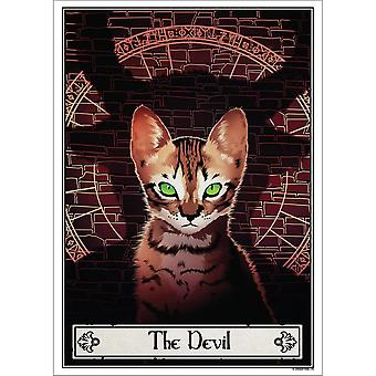 Deadly Tarot The Devil Felis Poster