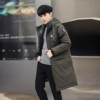 الرجال الدافئة الرياح الخارجية عارضة الملابس الخارجية مبطن القطن معطف جيوب كبيرة عالية الجودة