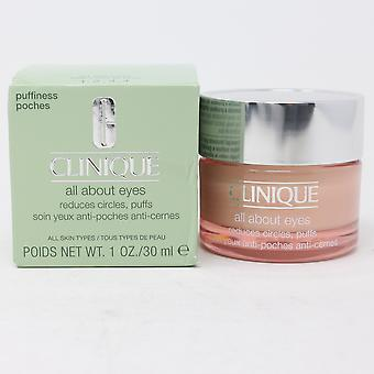 Clinique All About Eyes Reduces Circles, Puff 1.0oz/30ml nuevo con caja