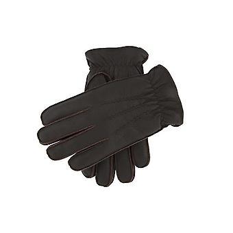 Heren's Faux Fur Lined Deerprint Lederen Handschoenen