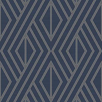 Pear Tree Navy Geometric