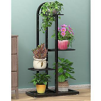 Plant Stand, Multi-Layer Floor-Standing Flower Holder 4 Layers 5 Pots for Indoor Garden Balcony