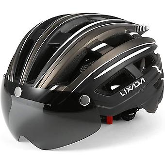 Lixada Mountain Bike Helmet Breathable Motorcycling Helmet with Back Light