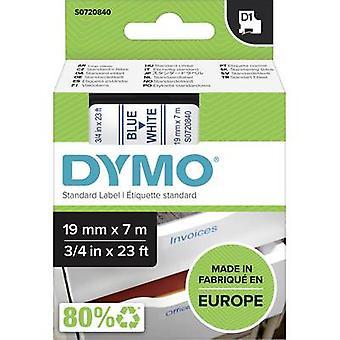 Merkintöjä nauha DYMO D1 45804 nauhan väri: valkoinen fontin väri: sininen 19 mm 7 m