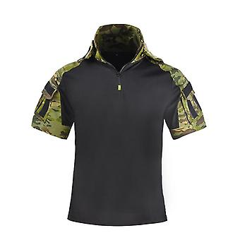 Tactical Hooded Camo Uniform Military Shirt, Army Fan Cs Field Shooting