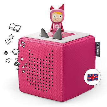 Toniebox starter set pink incl 1 creative tonie - audio player / music player and speaker for audiob