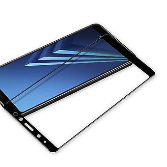 3D premium 0.3 mm bent H9 tempered glass black film for Samsung Galaxy A8 plus A730F 2018