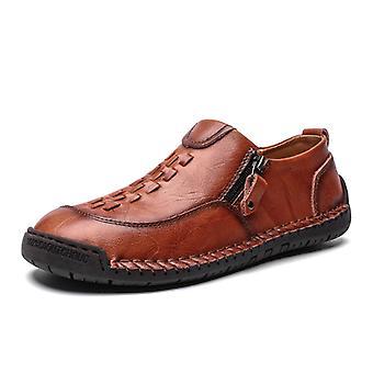Zapatos de cuero casual para hombre 9939 marrón