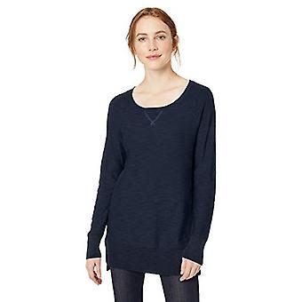 Marke - Tägliche Ritual Damen leicht Open-Crewneck Raglan Tunika Pullover Pullover Pullover