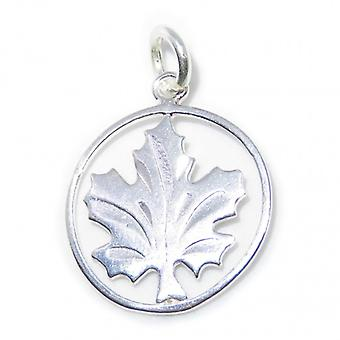 Maple Leaf Sterling Silver Charm .925 X 1 Canada Maples Leaves Charms - 8244