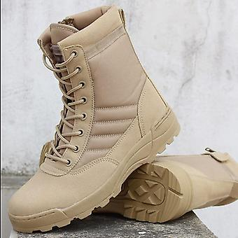 Men Desert Military Tactical Boots, Outdoor Waterproof Hiking Shoes
