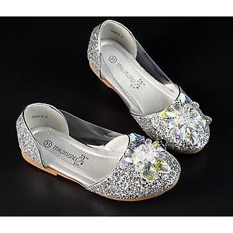 Girl Crystal Beaded Charming Diamond Flat Shoes