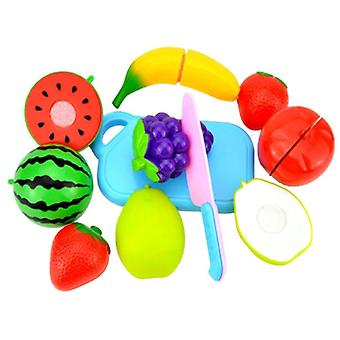 Children Pretend Role Play Cutting Fruit Plastic Vegetables Food House Toy
