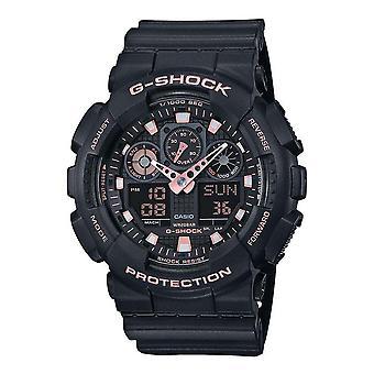 Casio G-Shock Watch GA-100GBX-1A4ER - Nasta Gents Kvartsi analoginen - Digitaalinen