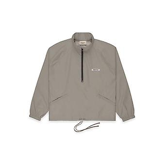 Fear Of God Essentials Half-Zip Track Jacket Cement - Clothing