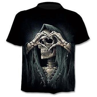 Fake Jacket Skull 3d Print T-shirt