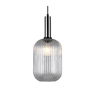 Lámpara Colgante Moderna Antiola Níquel Satinado