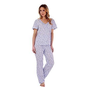 Slenderella PJ77114 Women's Paisley Pyjama Set