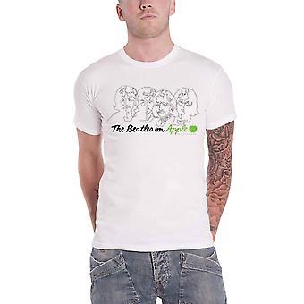 חולצת הביטלס על הלוגו של להקת אפל בחזרה להדפיס גברים רשמיים חדשים