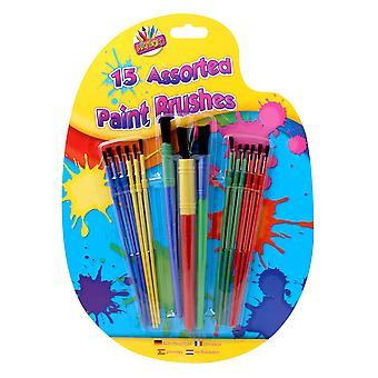 Artbox plastic verfborstel - diverse kleur (verpakking van 15) 1 originele verpakking