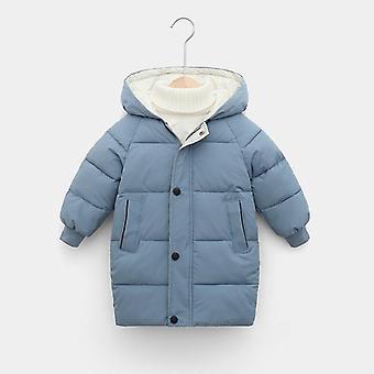 Kinder Mantel Winter Down Baumwolle gepolstert Kinder Kapuzen solid Daunenjacke