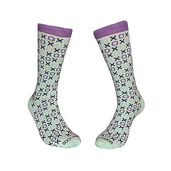 Hugs and Kisses (xoxo) Love Patterned Office Socks