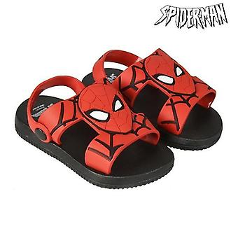 Beach sandaler spiderman rød