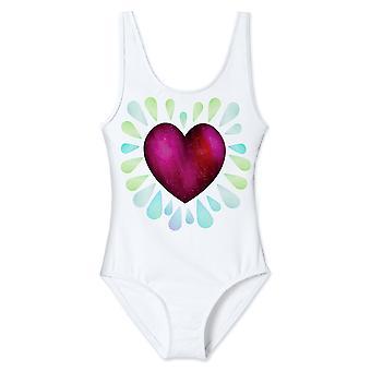 Ruby Heart Tank Swimsuit