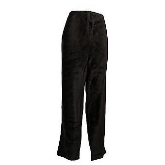 Stan Herman Women's Classic Plush Pajama Pant Black A381678