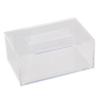 196 x125 x84mm Tissue/Paper Box Cover Holder Container Transparent