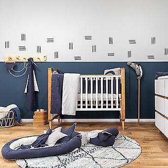 الأزرق تيترا القطن سرير صحائف