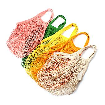 All Cotton Net Pocket Narrow Band Length Hand-carrying Knitting Shopping Net Bag Shopping Bag