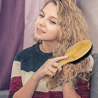 Natürliche Borsten Haar Bürste Scalp Massage Holz Griff Air Bag Soft Comb