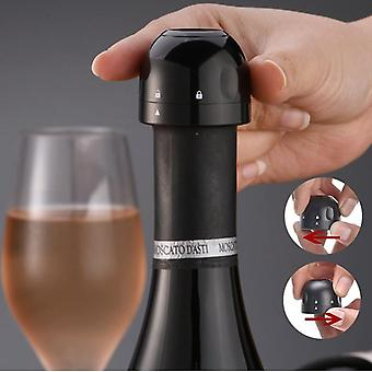 3 Pieces set of  vacuum bottle stoppers for wine, champagne, cidre etc.