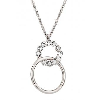 Traveller Pendant With Chain Rhodium Plated Crystals From Swarovski - 40-46cm - 157247 - 631