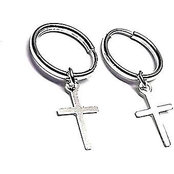 Silber-Ohrringe 11mm 925m Akt. Fino Kreuzanhnger Ring Lisos