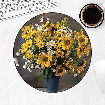 هدية Mousepad: زهرة زهرة مزهرية عباد الشمس